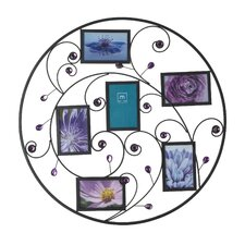 6 Purple Bead Curl Round Collage Picture Frame