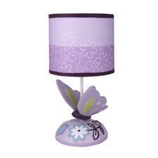 """Butterfly Lane 11"""" H Table Lamp with Drum Shade"""