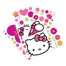 Hello Kitty® Garden 4 Piece Wall Appliques Set