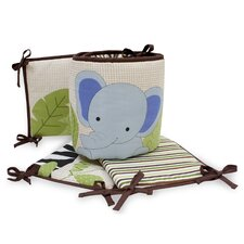 Jungle Buddies 4 Piece Bumper Set