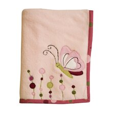 <strong>Lambs & Ivy</strong> Raspberry Swirl Plush Blanket with Applique