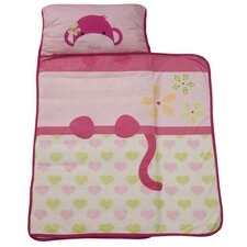 Monkey Nap Mat in Pink