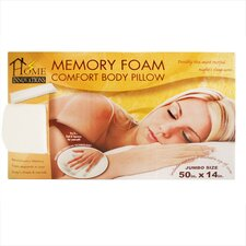 <strong>Home Innovations</strong> Memory Foam Comfort Body Jumbo Pillow