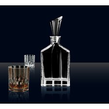 Aspen 3 Piece Decanter and Double Old Fashioned Glass Set