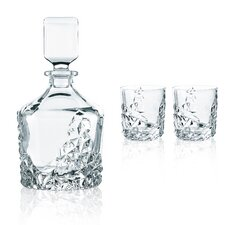 Sculpture 3 Piece Decanter Gift Set