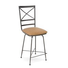 "<strong>Charleston Forge</strong> Xanadu 26"" Swivel Bar Stool with Cushion"