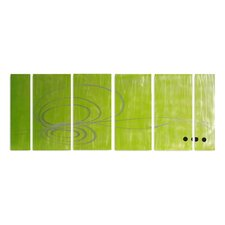 Abstract Sculptures Earthy Organics 6 Piece Original Painting Plaque Set