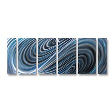 <strong>Pure Art</strong> Denim Swirls Handmade Aluminum