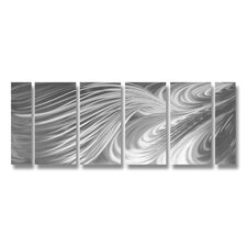 Abstract Sculptures Twirls Swirls and Whirls 6 Piece Original Painting Plaque Set
