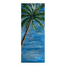 Tree Sculptures Brilliant Palm Tree Original Painting Plaque