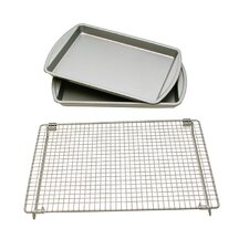 3 Piece Baking Sheet Set with Rack