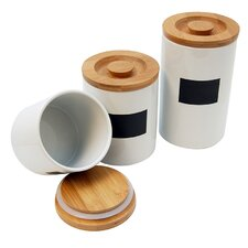 3 Piece Ceramic Canister Set