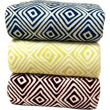 <strong>LCM Home Fashions</strong> Luxury Printed Square Micro Plush Blanket