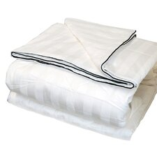 <strong>LCM Home Fashions</strong> Silk-Filled Damask Stripe Cotton Blanket