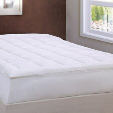 Damask Stripe Pillowtop Mattress Pad