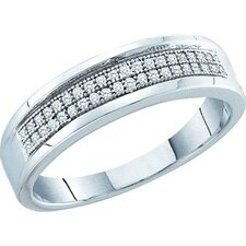 <strong>Goldia</strong> 10k White Gold Micro-Pave Diamond Fashion Ring