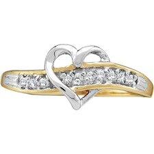 <strong>Goldia</strong> 10k Yellow Gold Heart Diamond Ring