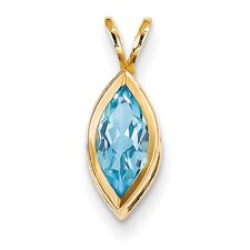 14k Yellow Gold Topaz Pendant