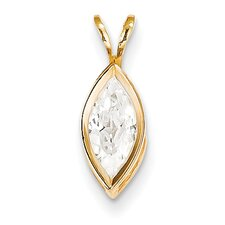 14k Yellow Gold Cubic Zirconia Pendant