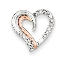 14k Rose Gold Heart Diamond Pendant