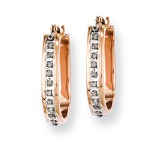 <strong>Goldia</strong> Fascination U Shape Hinged Diamond Hoop Earrings