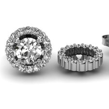 <strong>Dazzling Rock</strong> Round Cut Diamond Cluster Jackets for Stud Earrings