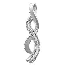 Sterling Silver Diamond Infinity Pendant