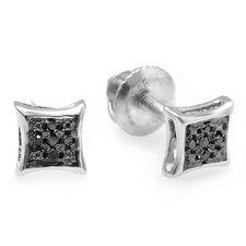Men's Round Cut Diamond Stud Earrings