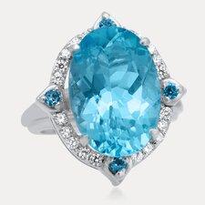 Russian Beauty Sterling Silver Gemstone Ring