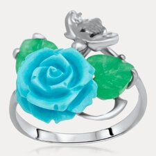 Flowers Sterling Silver Gemstone Ring