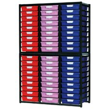 54 Tray Stationary Metal Rack
