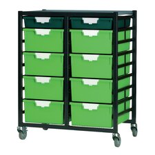 18 Tray Tall Mobile Metal Rack