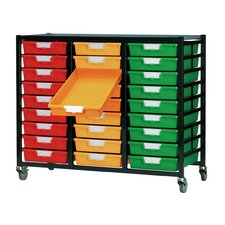 27 Tray Mobile Metal Rack