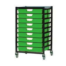 9 Tray Extra Wide Mobile Metal Rack