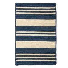 Long Point Blue Jasmine Striped Indoor/Outdoor Rug