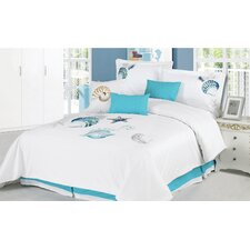 Ocean Shells 7 Piece Comforter Set