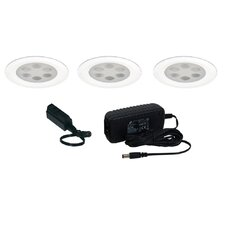 <strong>Jesco Lighting</strong> 3 Light Fixed Round Slim Disk Kit