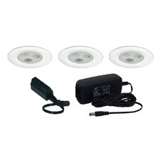 Slim Disk LED 3 Light Fixed Round Kit