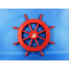 "<strong>Handcrafted Model Ships</strong> 18"" Ship Wheel"