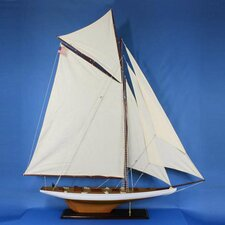 "<strong>Handcrafted Model Ships</strong> 54"" Columbia Model Yacht"
