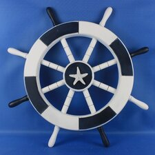 <strong>Handcrafted Model Ships</strong> Ship Wheel Wall Décor