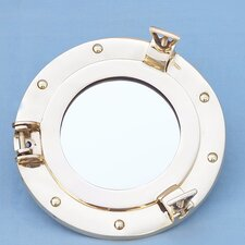 "<strong>Handcrafted Model Ships</strong> 8"" H x 8"" W Porthole Mirror"