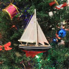American Christmas Tree Ornament Sailboat
