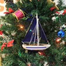 Christmas Tree Ornament Sailboat