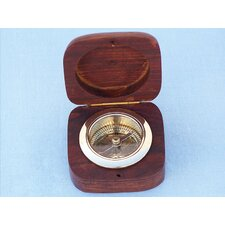 <strong>Handcrafted Model Ships</strong> Desk Compass with Rosewood Box