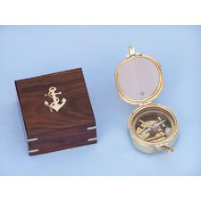 Brunton Pocket Transit Compass with Rosewood Box