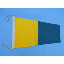 <strong>Handcrafted Model Ships</strong> Number 5 Nautical Cloth Signal Flag Wall Décor