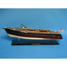 <strong>Handcrafted Model Ships</strong> Chris Craft Runabout Power Model Boat