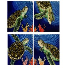 "4"" x 4"" Set Turtles Tiles (Set of 4)"