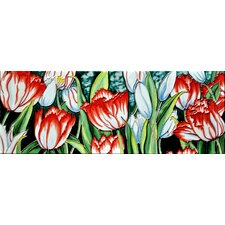 "6"" x 16"" White Tulips Tile"